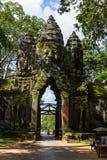Portone del nord di Angkor Thome Immagine Stock Libera da Diritti