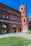 Portone del palatino a Torino, Italia Fotografia Stock Libera da Diritti