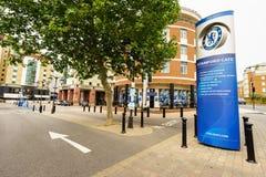 Portone del ponte di Chelsea FC Stamford Fotografia Stock Libera da Diritti