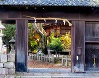 Portone del santuario shintoista immagini stock libere da diritti