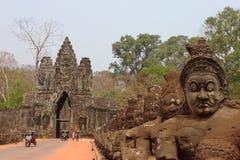 Portone del sud in Angkor Immagini Stock