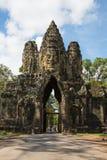 Portone del sud di Angkor Thome Fotografia Stock