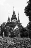 Portone del tempio di Suan Dok, Chiangmai, Tailandia Fotografia Stock