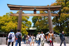 Portone del tempio nel Giappone, Tokyo Fotografia Stock