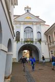 Portone dell'alba, portone della città di Vilnius Fotografia Stock Libera da Diritti