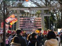 Portone dell'entrata del santuario, torii Fotografia Stock Libera da Diritti