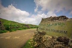 Portone dell'entrata di turismo di Ponmudi Eco immagine stock