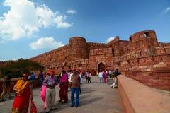 Portone dell'entrata Fortificazione di Agra Agra, Uttar Pradesh L'India immagini stock libere da diritti