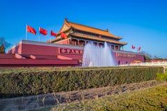 Portone dell'entrata principale della Città proibita, Pechino Fotografia Stock