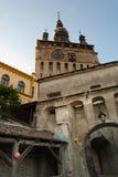 Portone dell'entrata principale nella cittadella di Sighisoara Fotografie Stock
