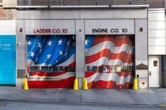 Portone della caserma dei pompieri di New York Fotografia Stock Libera da Diritti