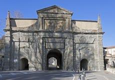 Portone della città, Bergamo (Porta Sant'Agostino) Fotografia Stock Libera da Diritti