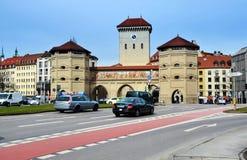 Portone della città di Monaco di Baviera Immagine Stock Libera da Diritti