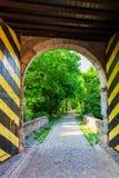 Portone della città storica di Bedburg alt-Kaster, Germania Fotografie Stock