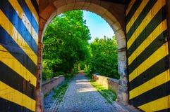 Portone della città storica di Bedburg alt-Kaster, Germania Immagine Stock Libera da Diritti