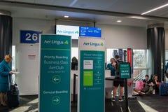 Portone della linea aerea di Aer Lingus immagini stock