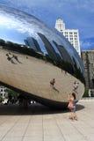Portone della nuvola del fagiolo di Chicago Fotografie Stock