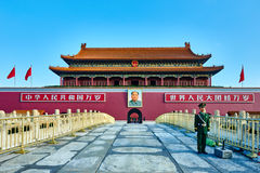 Portone della piazza Tiananmen celeste la Città proibita BeijingBe di pace Fotografie Stock Libere da Diritti