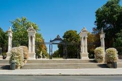 Portone della Spagna, parco della ritirata piacevole, Madrid Fotografia Stock