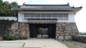 Portone di Akazunomon del castello di Okayama Immagini Stock Libere da Diritti