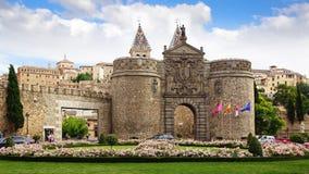 Portone di Alfonso VI, Toledo Fotografie Stock Libere da Diritti
