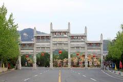 Portone di area scenica di Buddha del gigante di Nanshan, porcellana Fotografia Stock Libera da Diritti