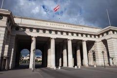 Portone di Ausseres Burgtor a Vienna Fotografie Stock Libere da Diritti
