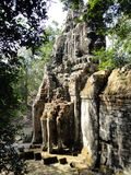 Portone di Bayon a Angkor Fotografia Stock Libera da Diritti