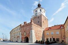 Portone di Cracovia a Lublino, Polonia Immagini Stock