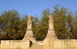 Portone di enterance o di Palo al tempio di Sun di Modhera, Gujarat immagine stock libera da diritti