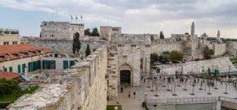 Portone di Giaffa di vecchia città a Gerusalemme, Israele Immagine Stock Libera da Diritti