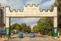 Portone di Harar Jugol Immagini Stock