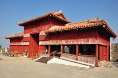 Portone di Koufukumon, castello di Shurijo, Okinawa Fotografia Stock