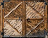 Portone di legno Fotografie Stock Libere da Diritti
