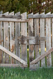 Portone di legno chiuso Fotografie Stock Libere da Diritti
