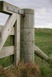 Portone di legno del paese Immagini Stock