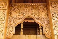 Portone di legno dell'entrata Immagine Stock