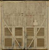 Portone di legno della sottostazione Immagini Stock Libere da Diritti