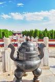 Portone di Lingxing dell'altare circolare del monticello nel complesso il Tem Fotografia Stock