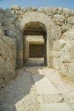 Portone di Nekromantio dentro le pareti Prevesa Immagine Stock