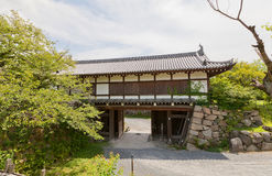 Portone di Otemon del castello di Yamato Koriyama, Giappone Immagine Stock Libera da Diritti