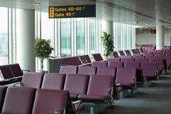 Portone di partenza dell'aeroporto Immagine Stock Libera da Diritti
