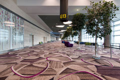 Portone di partenza dell'aeroporto Immagini Stock Libere da Diritti