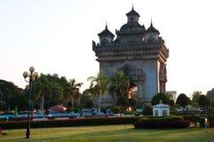 Portone di Patuxai a Vientiane Laos Fotografie Stock