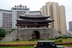 Portone di Potong, Pyongyang, Corea del Nord Immagini Stock Libere da Diritti
