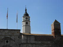 Portone di Sahat e torre di Sahat, Belgrado fotografie stock libere da diritti