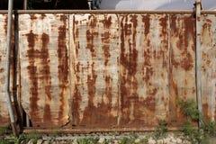 Portone di scivolamento Rusted Fotografie Stock