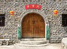 Portone di stile cinese Fotografia Stock Libera da Diritti