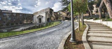 Portone di Sun, Palestrina, Italia Fotografie Stock