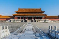 Portone di Taihemen di Harmony Imperial Palace Forbidden City suprema fotografie stock